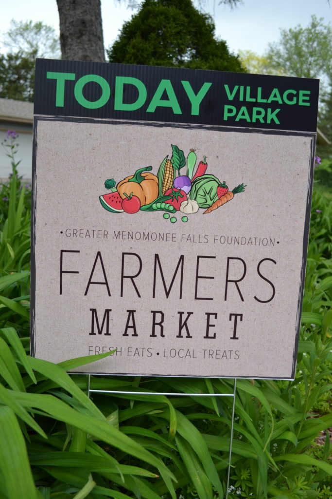 Farmers Market OPEN TODAY sign
