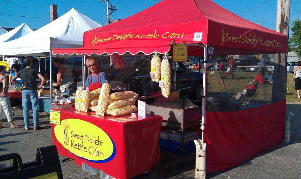 Sweet Delights Kettle Corn booth
