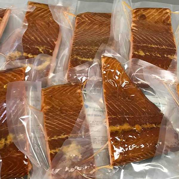 Photo of packaged fish.