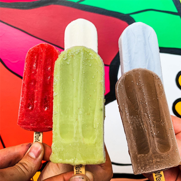 A photo of Pete's Pops popsicles.