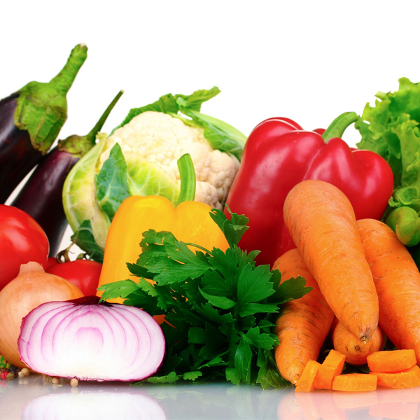 A photo of fresh vegetables.